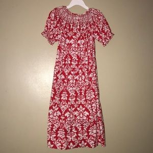Other - Girls red and white boutique dress (6, S/M)